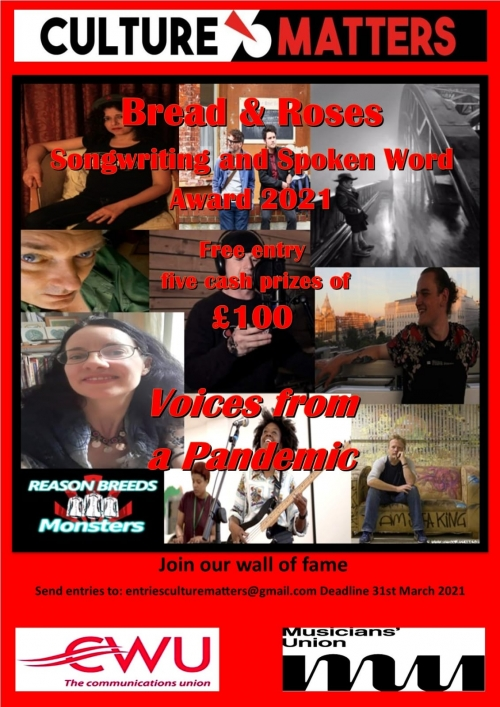 Callout: the Bread and Roses Songwriting and Spoken Word Award 2021
