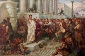 Mark Antony's speech at Caesar's funeral
