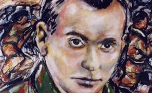 Detail from a painting of Christopher Caudwell by Caoimhghin O Croidheain