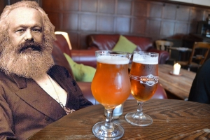 Marx, Engels and beer