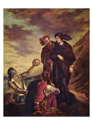 Delacroix, Hamlet and Horatio before the Gravediggers, 1843