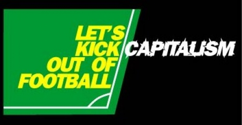 Capitalists in football shirts